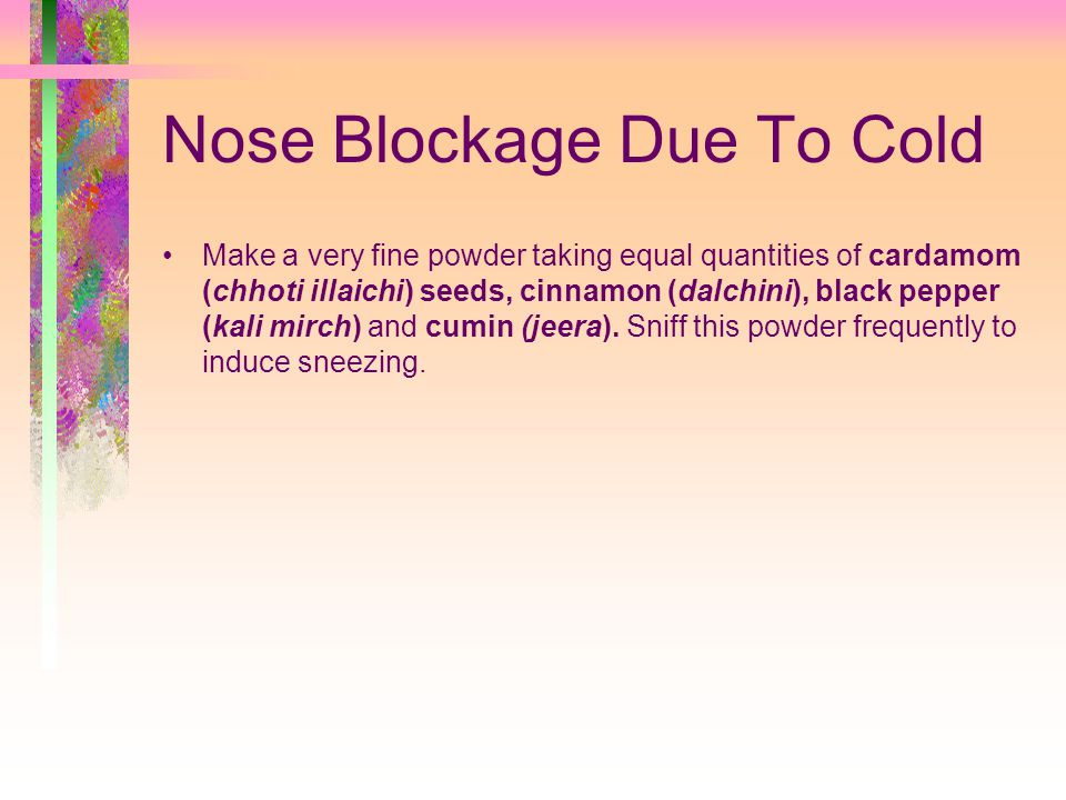 Nose Blockage Due To Cold