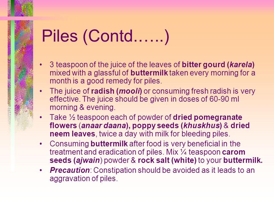 Piles (Contd.…..)