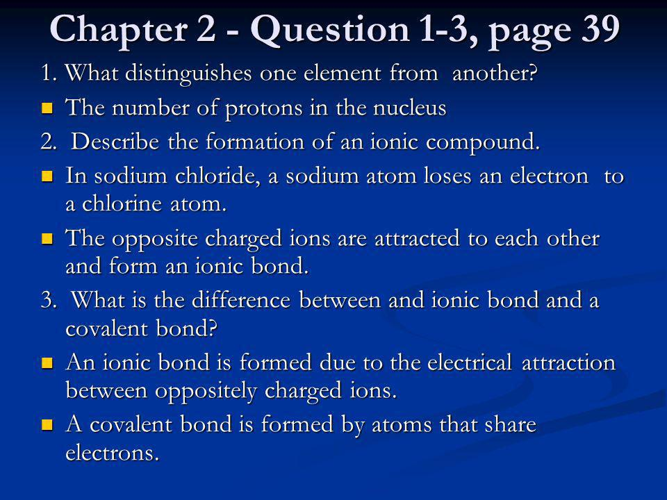 Chapter 2 - Question 1-3, page 39