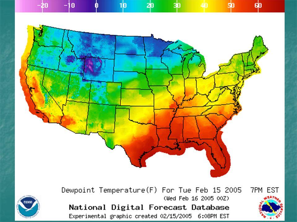 Dew Point Temperatures