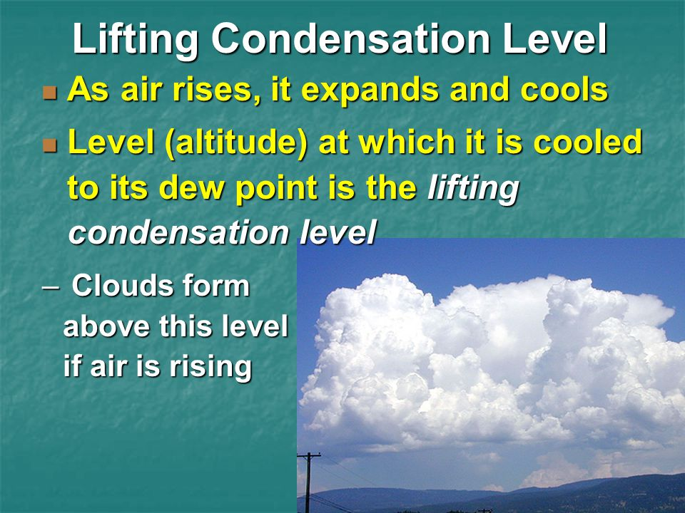 Lifting Condensation Level