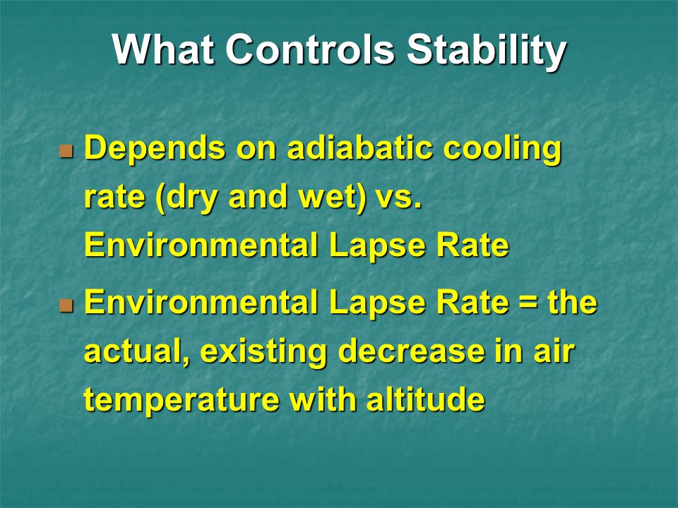 What Controls Stability