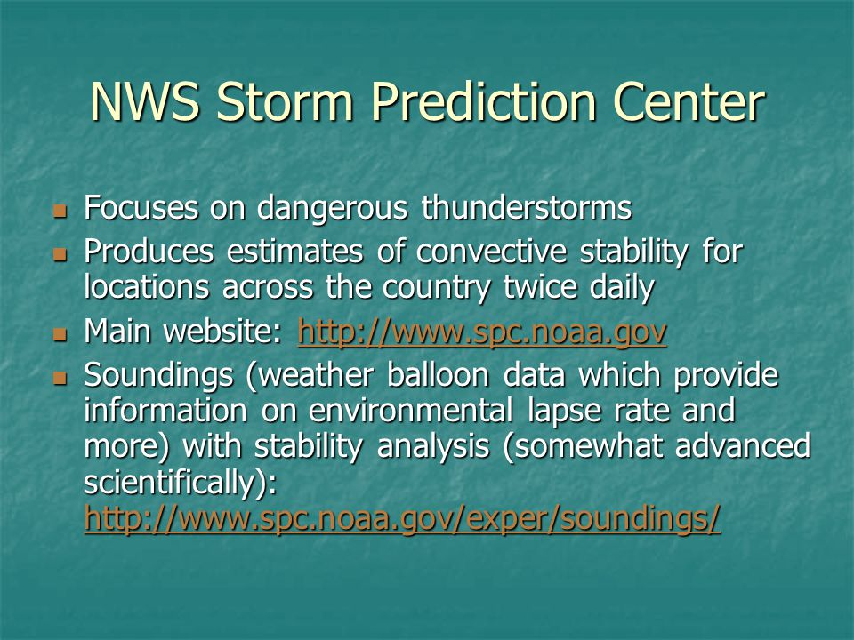 NWS Storm Prediction Center