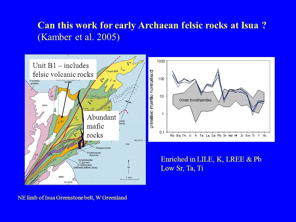 Can this work for early Archaean felsic rocks at Isua