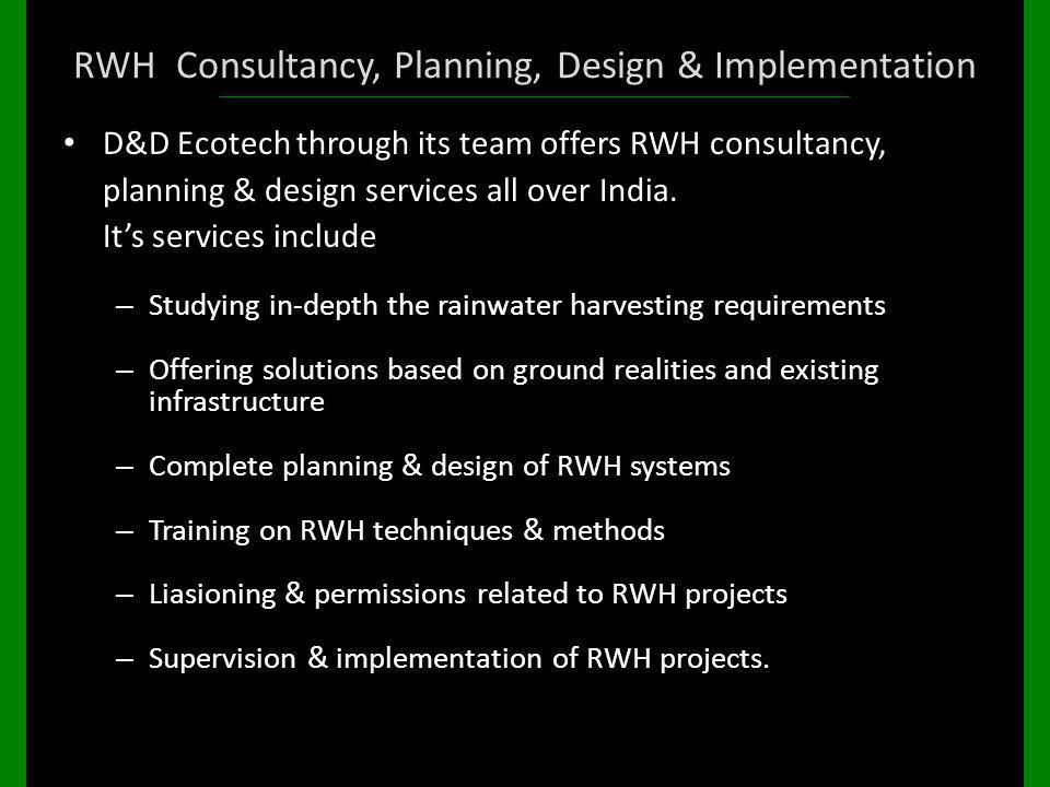 RWH Consultancy, Planning, Design & Implementation