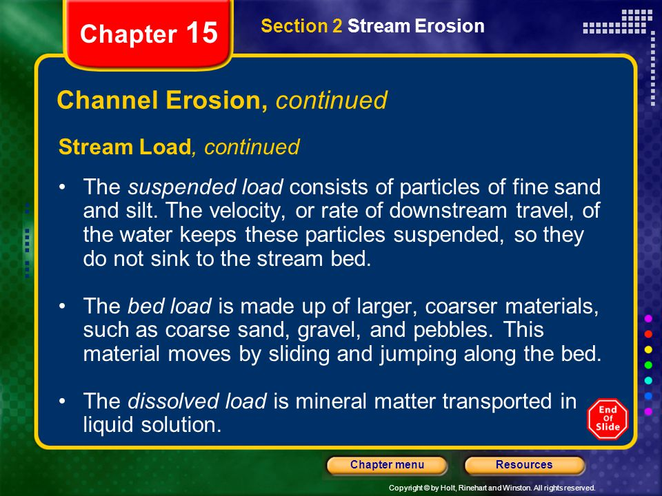 Channel Erosion, continued