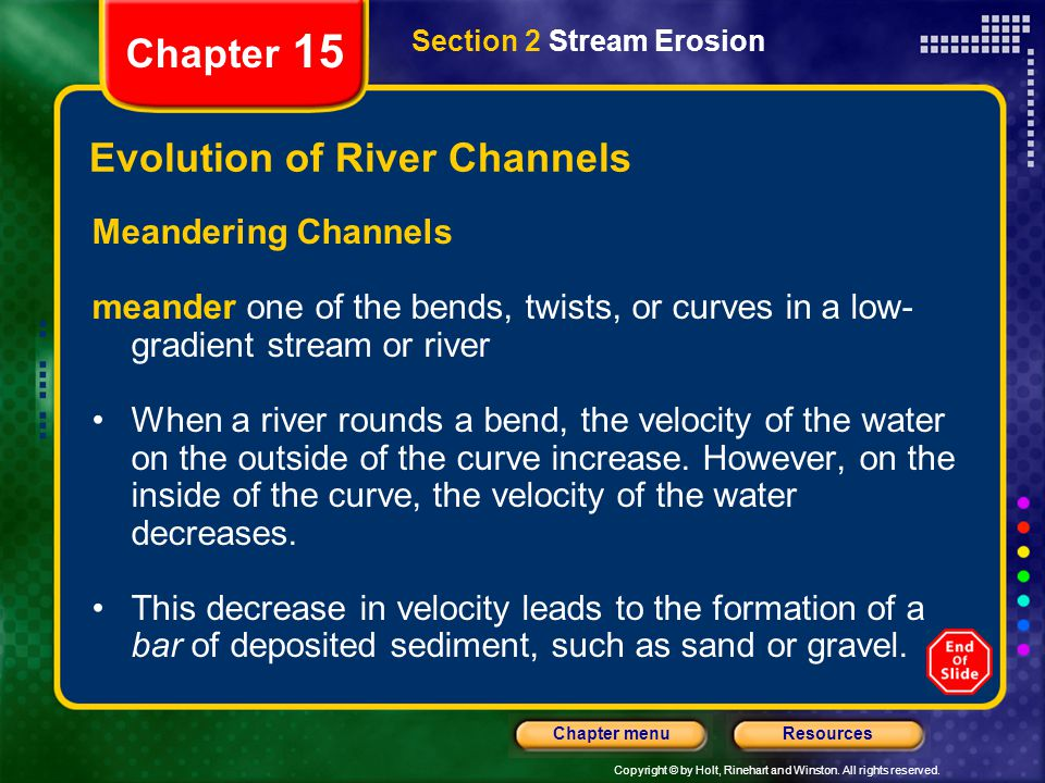 Evolution of River Channels