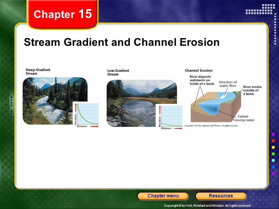 Stream Gradient and Channel Erosion