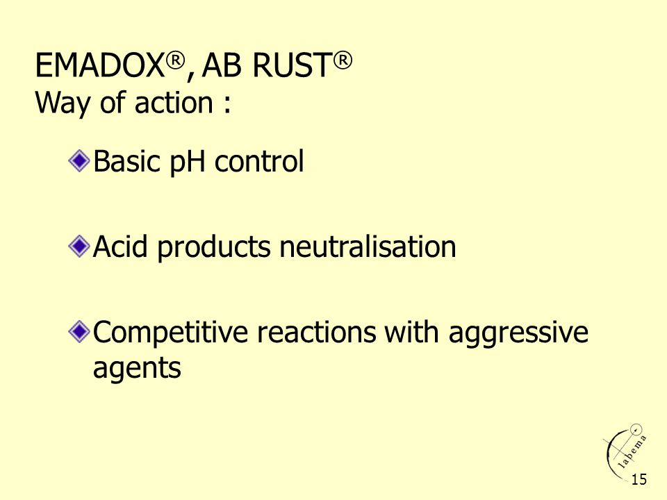EMADOX®, AB RUST® Way of action :