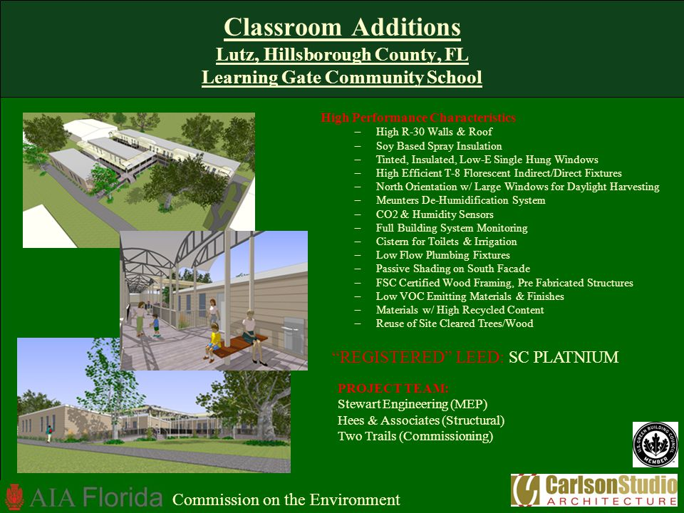 Classroom Additions Lutz, Hillsborough County, FL Learning Gate Community School