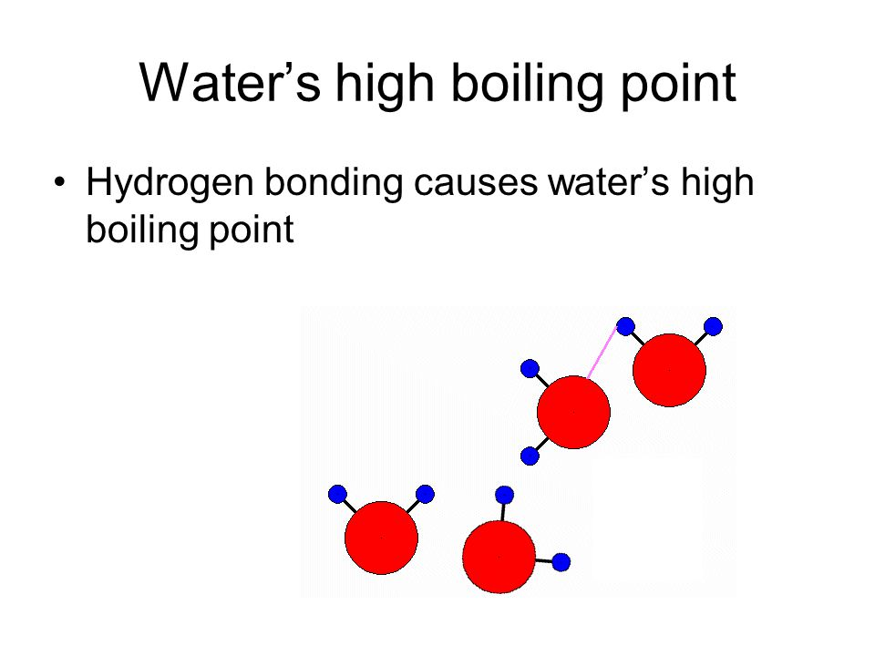 Water's high boiling point