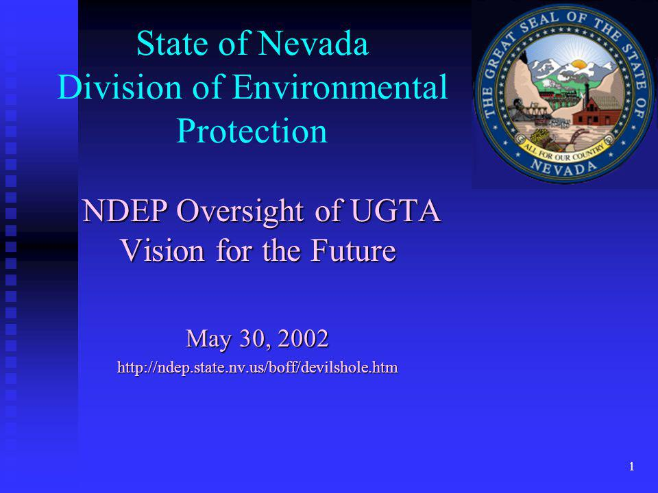State of Nevada Division of Environmental Protection