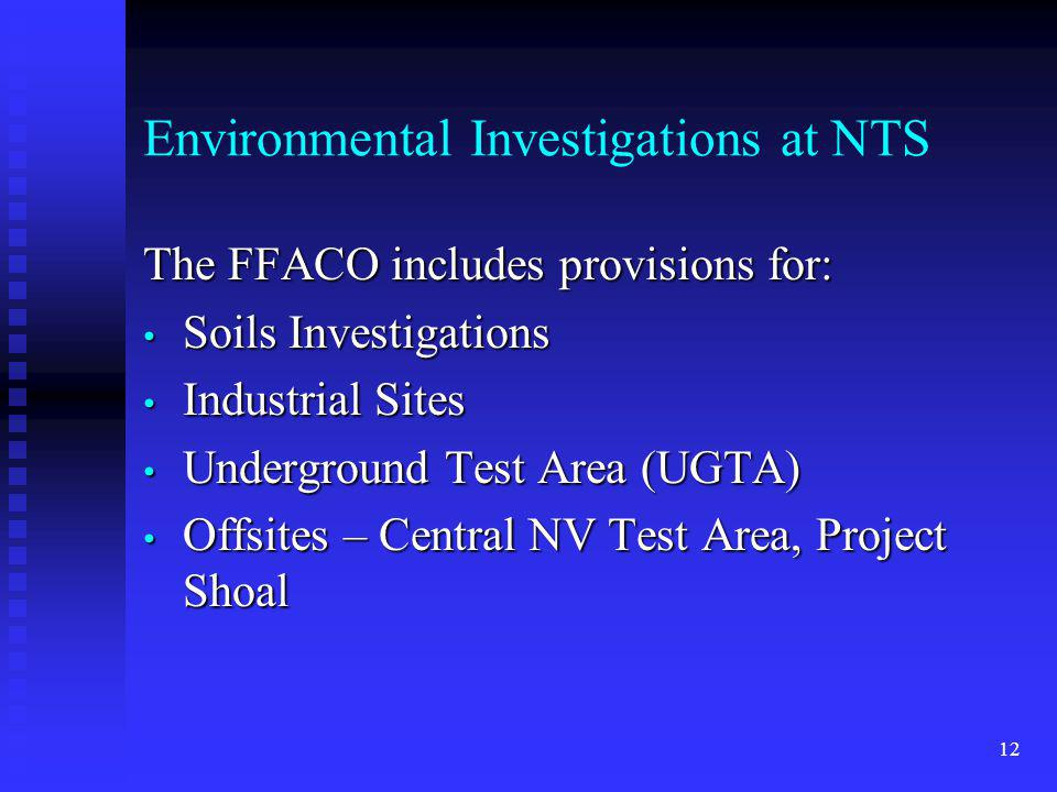 Environmental Investigations at NTS