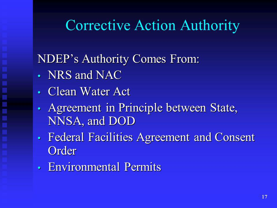 Corrective Action Authority