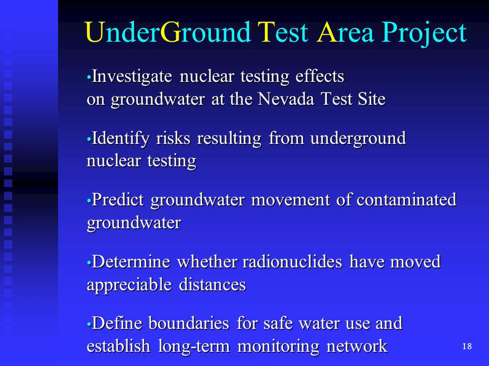 UnderGround Test Area Project