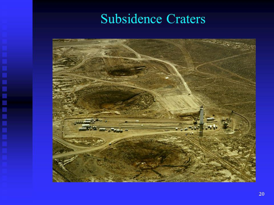 Subsidence Craters