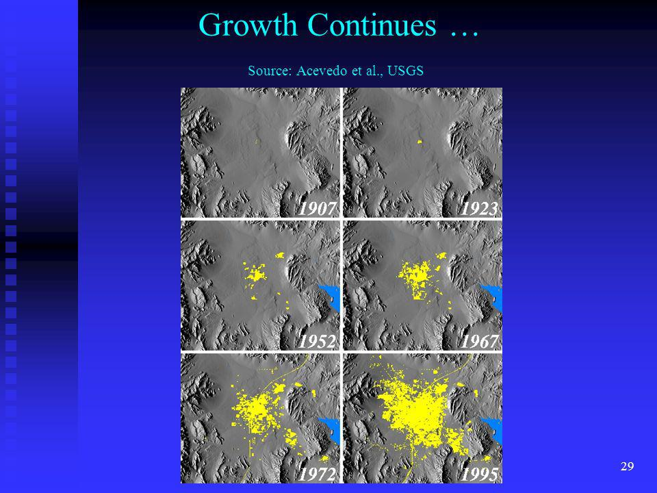 Growth Continues … Source: Acevedo et al., USGS