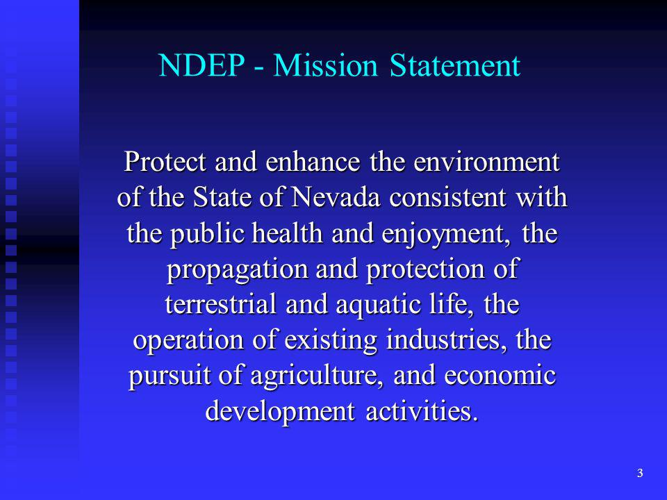 NDEP - Mission Statement
