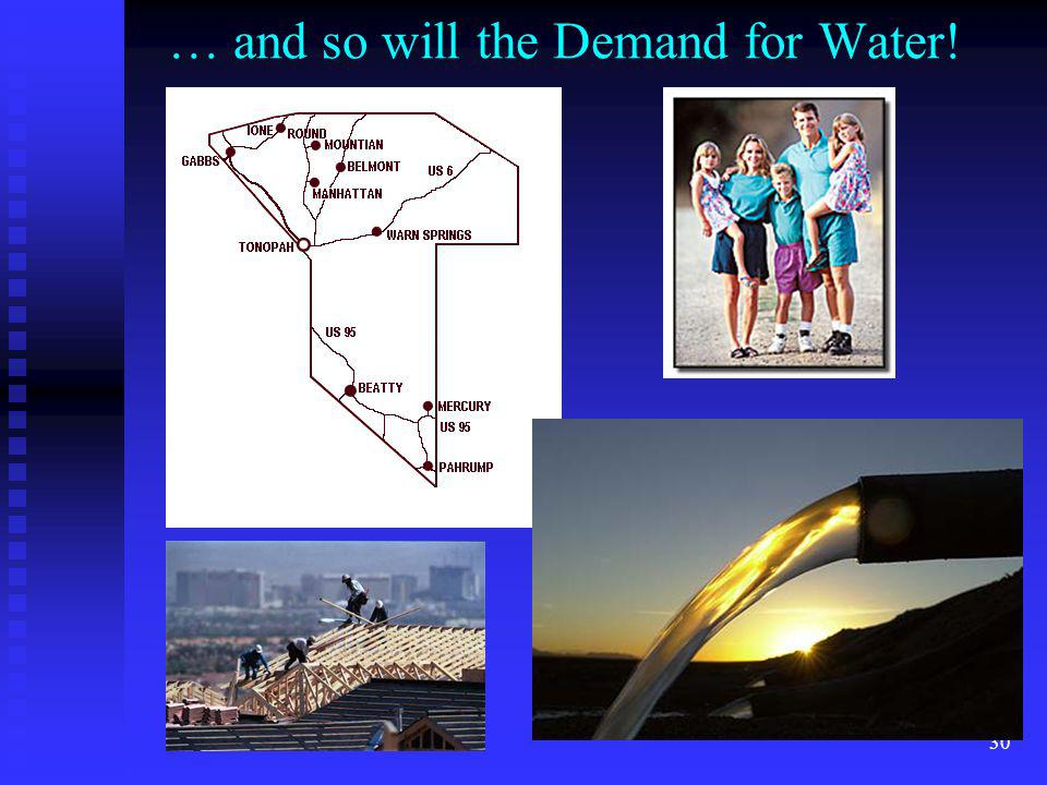 … and so will the Demand for Water!
