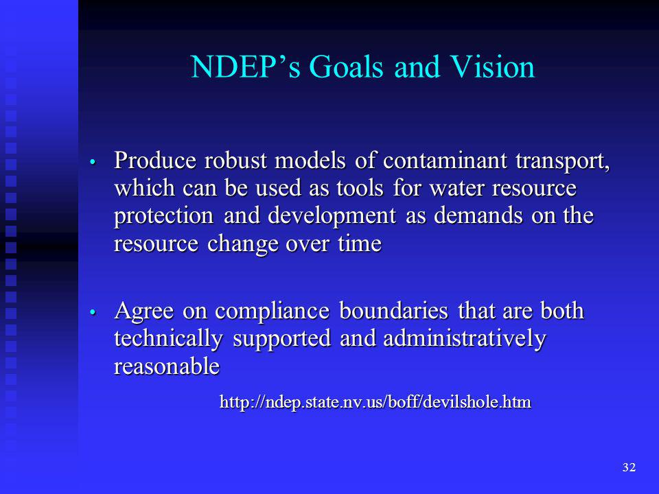 NDEP's Goals and Vision