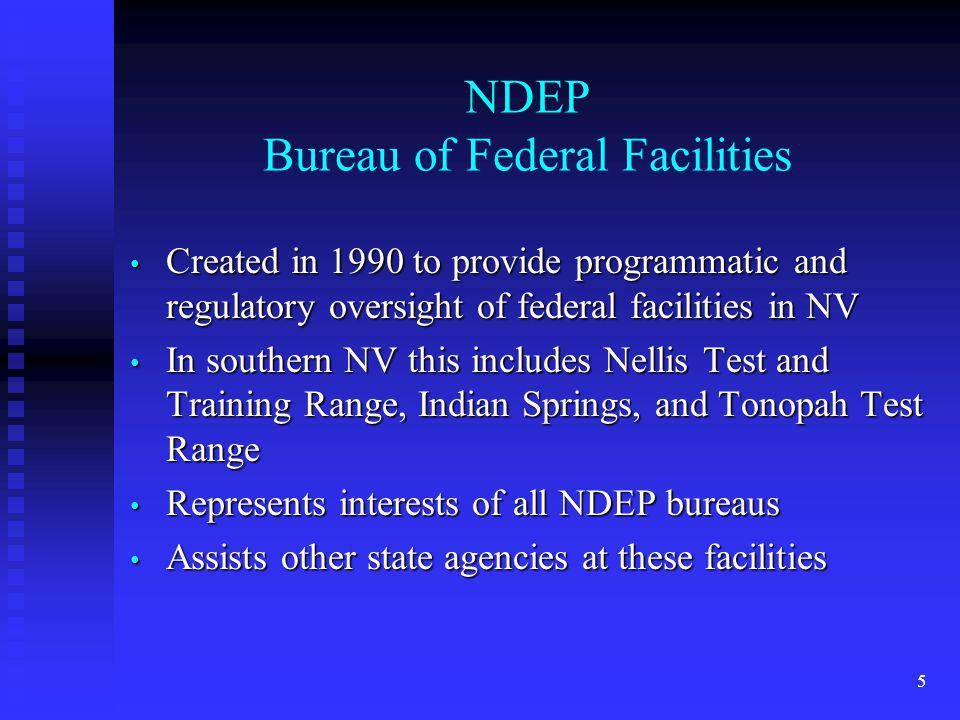 NDEP Bureau of Federal Facilities