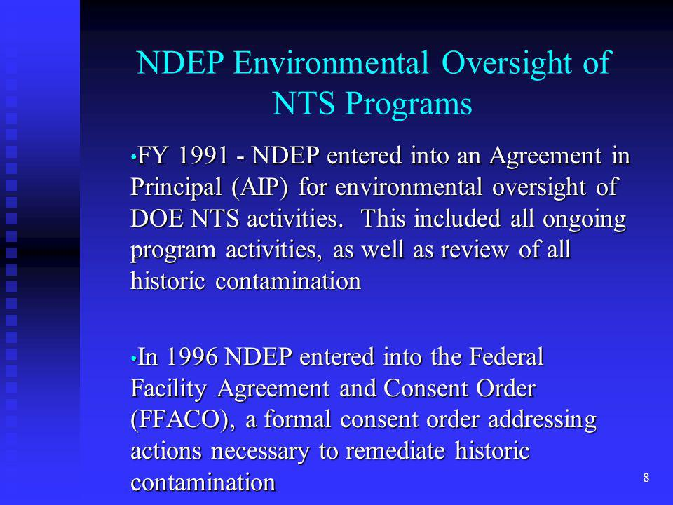 NDEP Environmental Oversight of NTS Programs