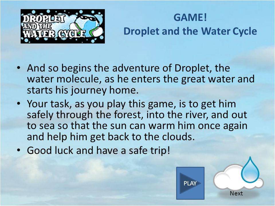 GAME! Droplet and the Water Cycle