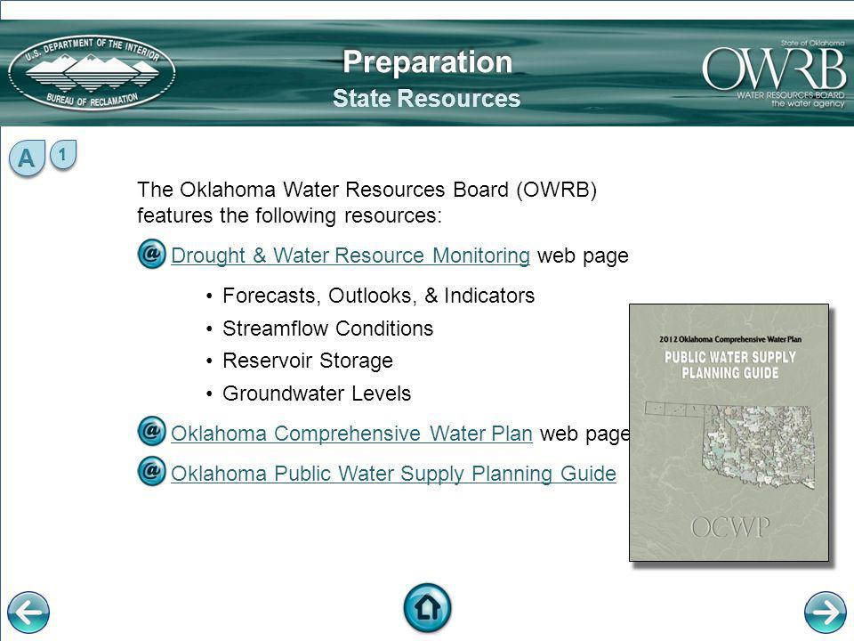 Preparation State Resources A