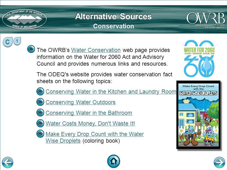 Alternative Sources Conservation C