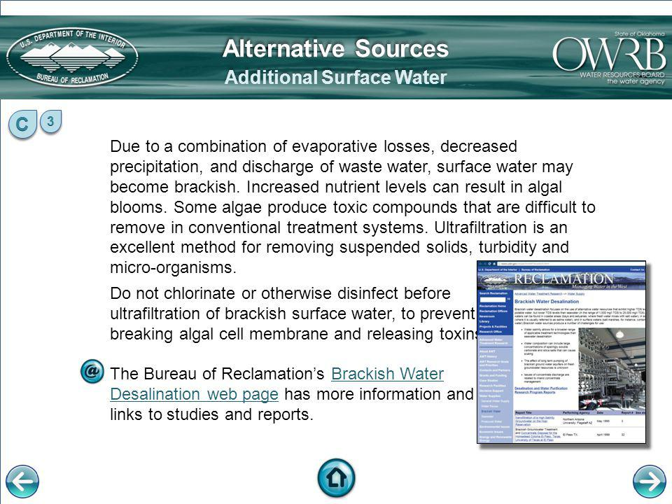 Additional Surface Water