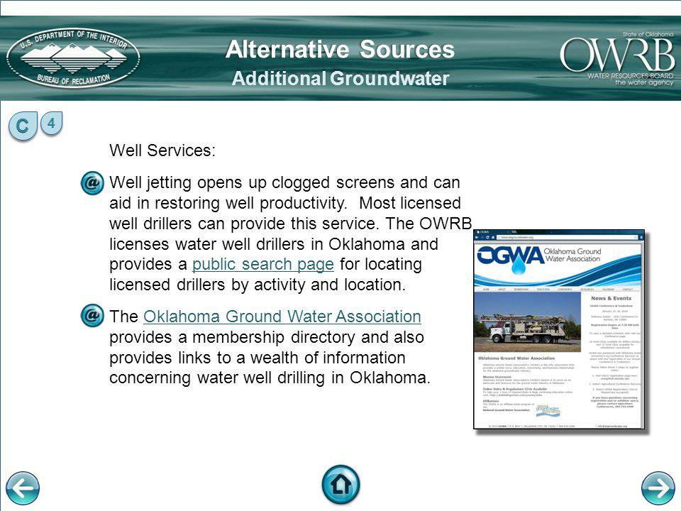 Additional Groundwater