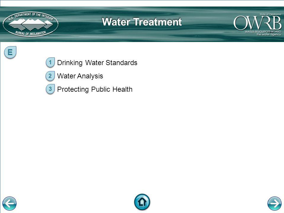 Water Treatment E Drinking Water Standards Water Analysis