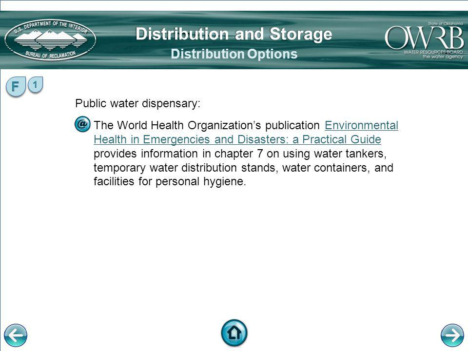 Distribution and Storage