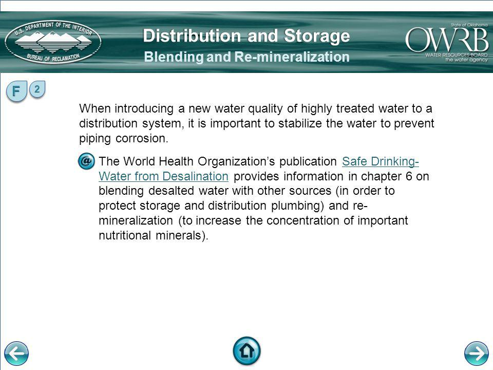 Distribution and Storage Blending and Re-mineralization