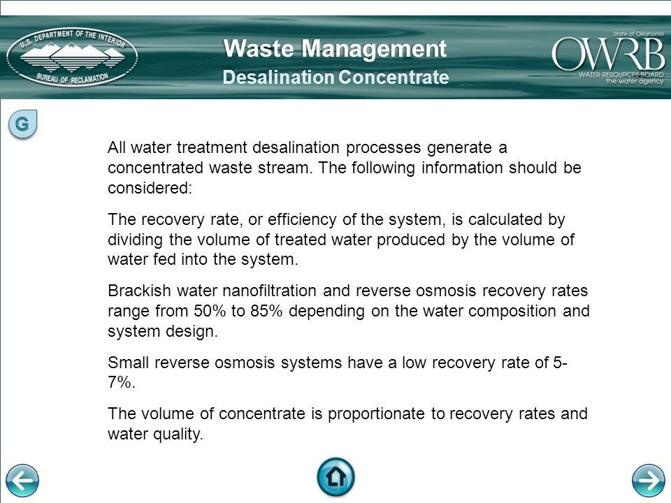 Desalination Concentrate