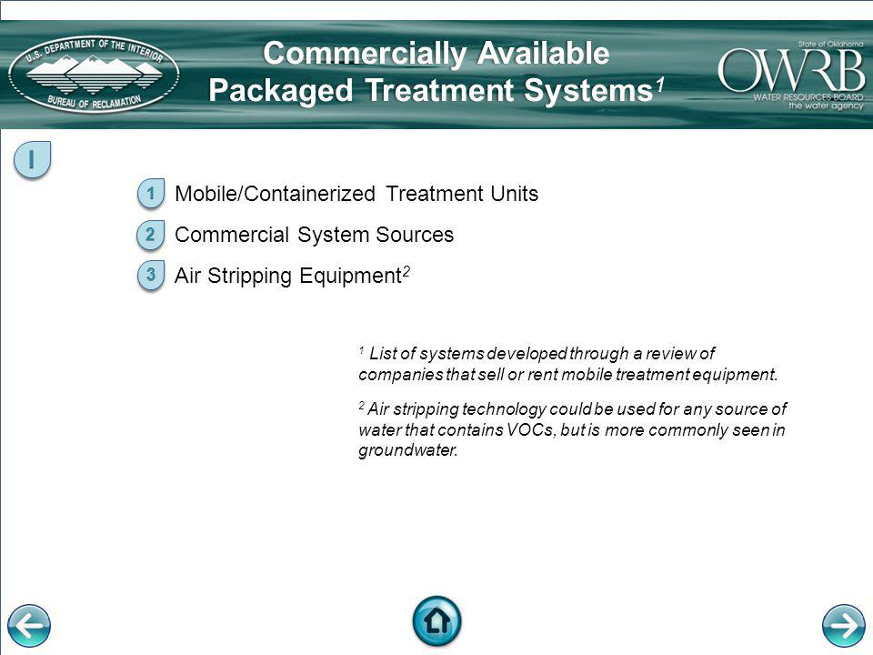 Commercially Available Packaged Treatment Systems1