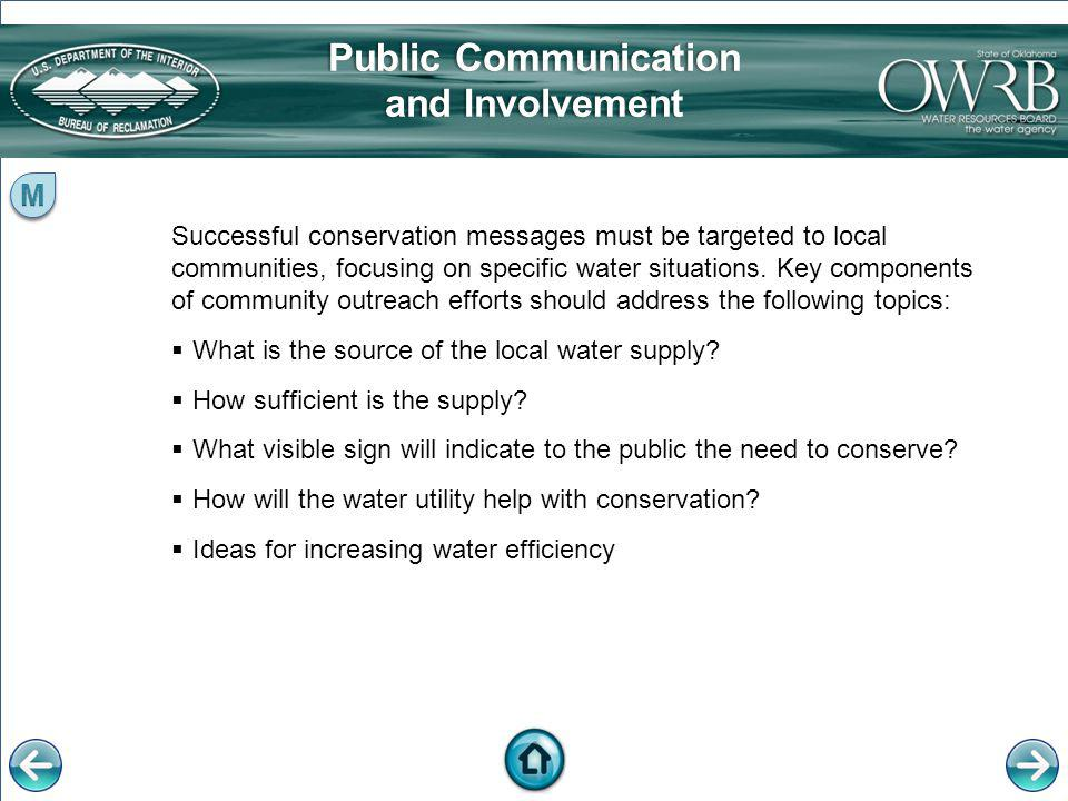 Public Communication and Involvement