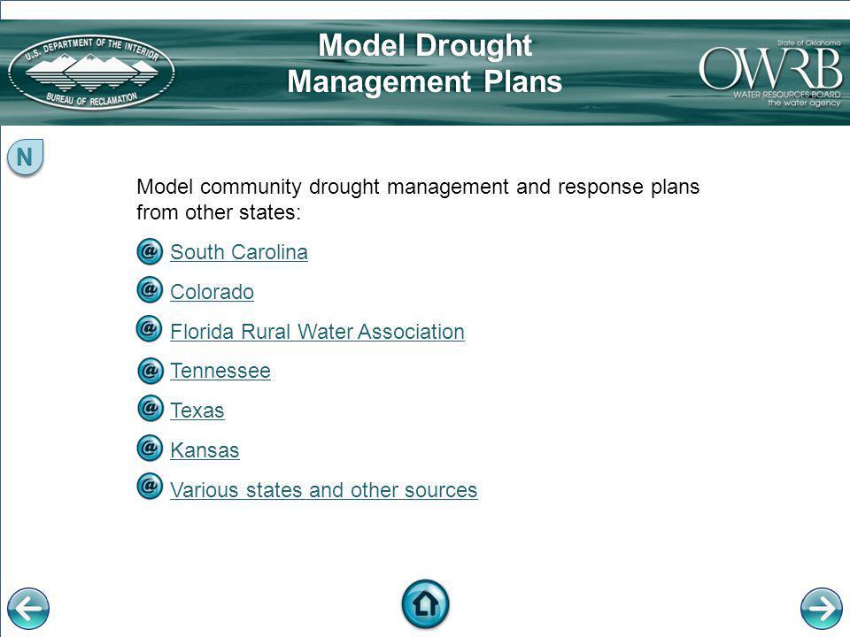 Model Drought Management Plans