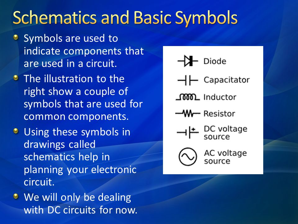 Schematics and Basic Symbols