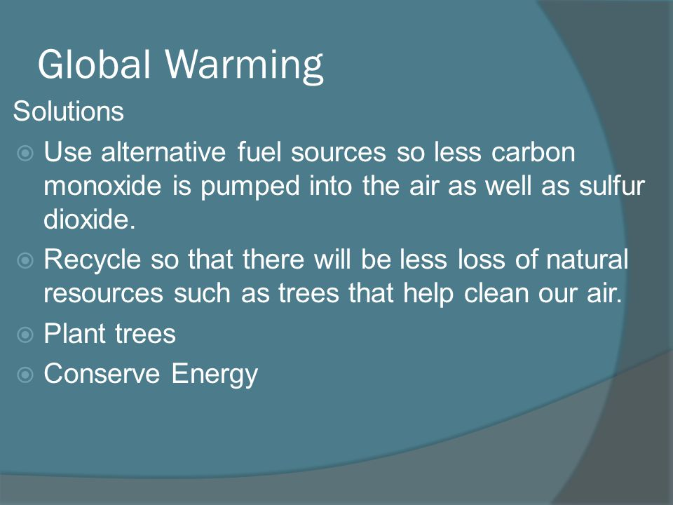 Global Warming Solutions