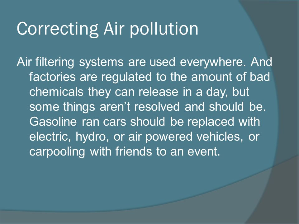 Correcting Air pollution