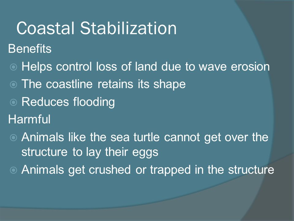 Coastal Stabilization