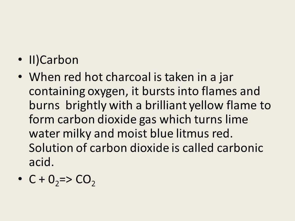 II)Carbon