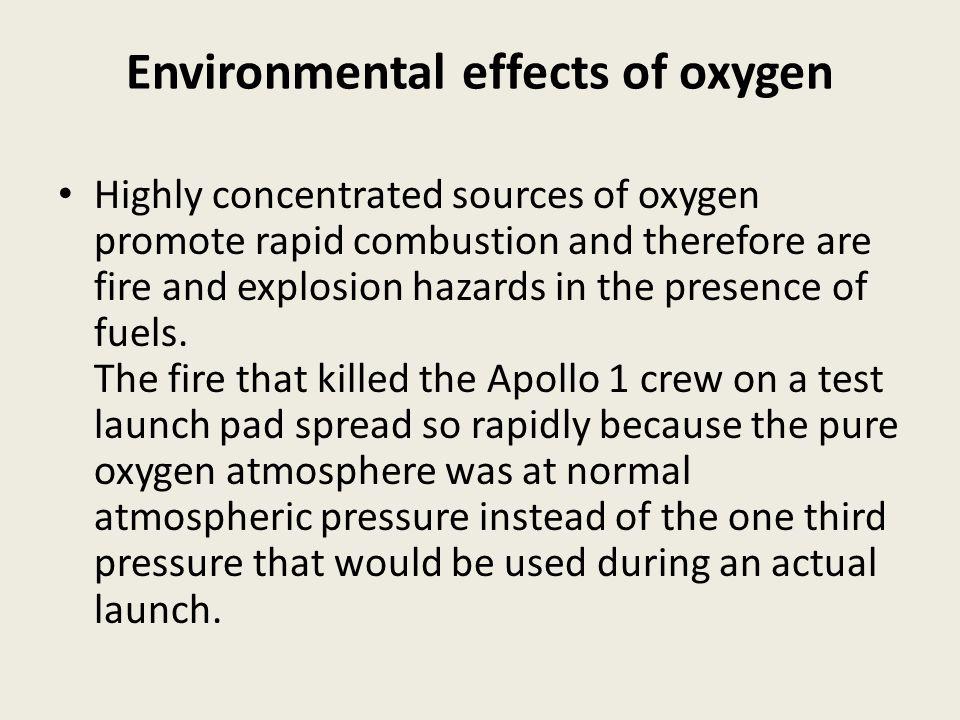 Environmental effects of oxygen