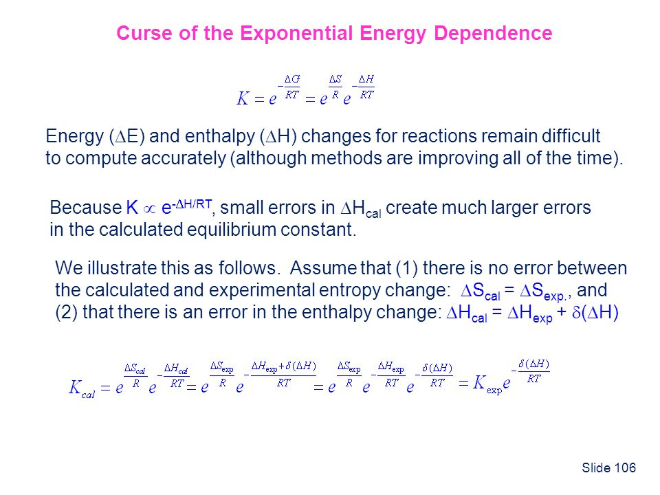 Curse of the Exponential Energy Dependence