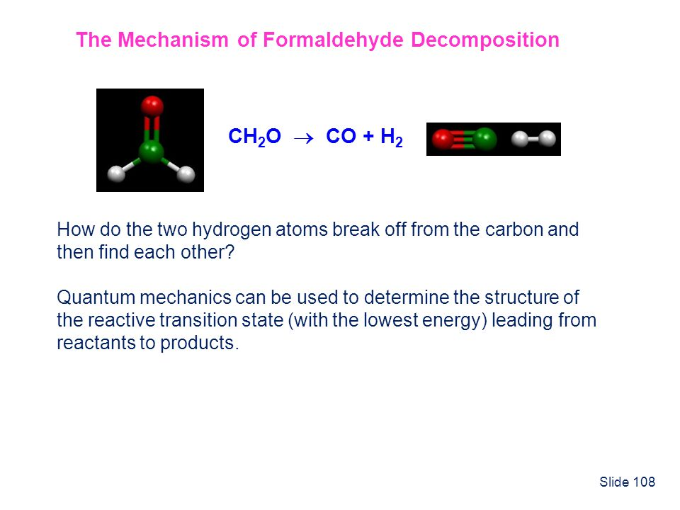 The Mechanism of Formaldehyde Decomposition