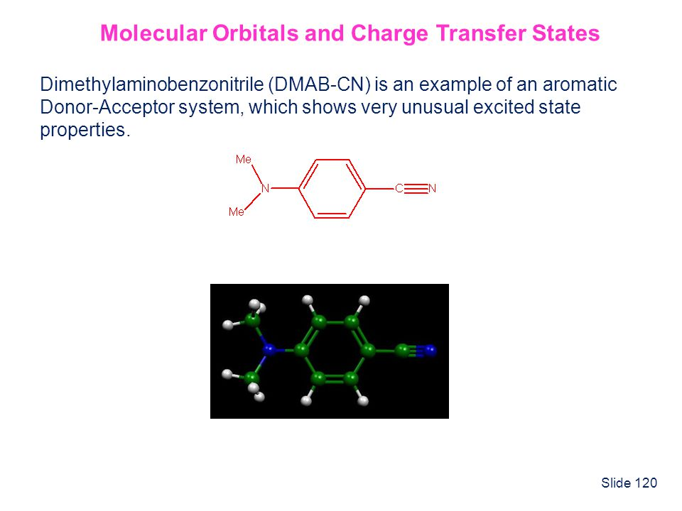 Molecular Orbitals and Charge Transfer States