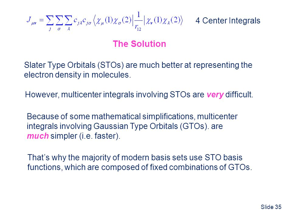 The Solution 4 Center Integrals