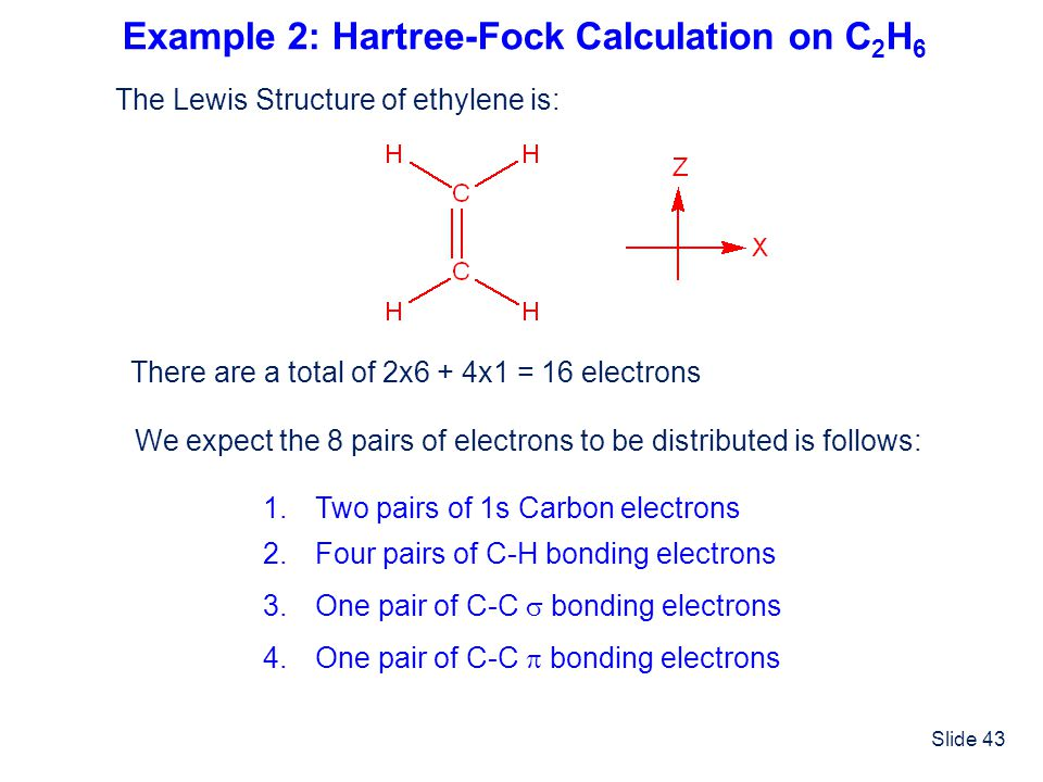 Example 2: Hartree-Fock Calculation on C2H6