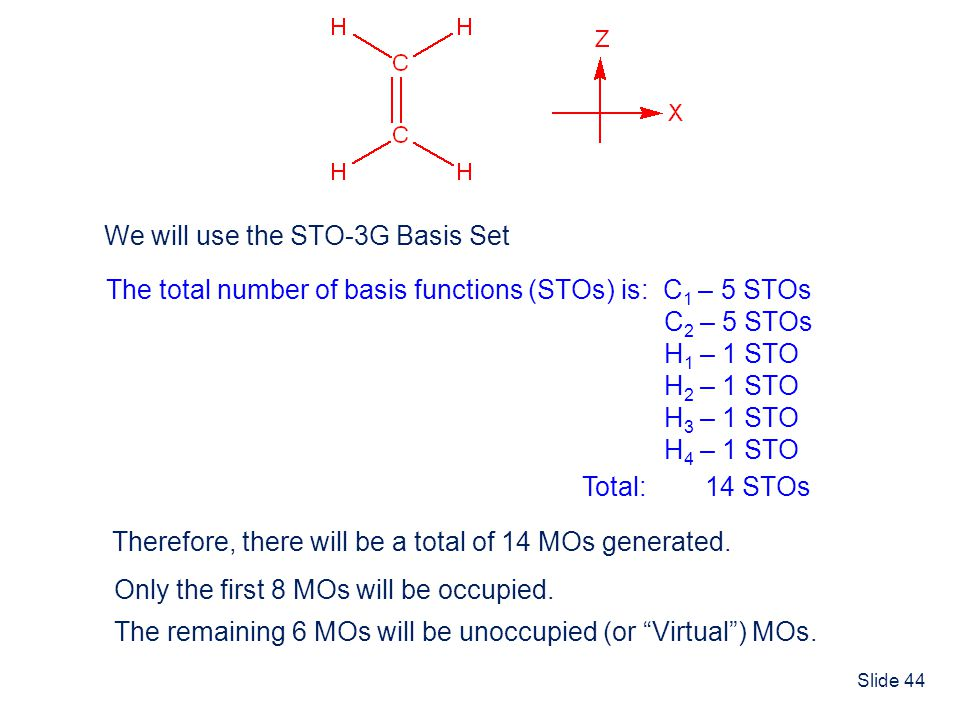 We will use the STO-3G Basis Set
